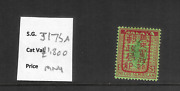 Japanesse Occ.malaya 1942 5 Green Andred/emerald Red Opt. Sg J175a Mnh Cv Andpound1800
