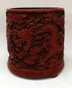 Pencil Pencil Dragon Red Lacquer Chinese Asian Art Sign