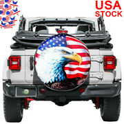 Spare Wheel Cover 16 For Trailer Jeep Wrangler Tire Waterproof Usa Flag Eagle