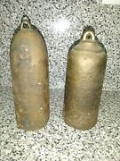 Antique Pair Of Bronze Grandfather Clock Weights