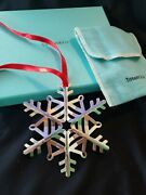 2020 Sterling Silver Snowflake Christmas Ornament Extremely Rare