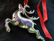 1994 Sterling Silver Christmas Ornament Reindeer Extremely Rare