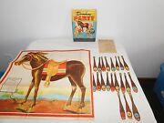 Vintage Toy 1941 Whitman Pin The Tail On The Donkey Party Game Plus 2