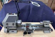 """Emco Maximat 7 Metal Lathe Mounted On A 46"""" Husky 9 Drawer Rolling Tool Cabinet"""