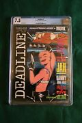 Deadline 1 Cgc 7.5 1st Full Appearance Of Tank Girl Wt Pages Mag 1st Printing