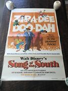 Vintage Original 1972 Disney Song Of The South 27andrdquo X 41andrdquo Movie Poster 1 Sheet