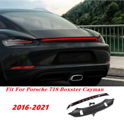 Rear Door Trunk Led Tail Light Cover Kit For Porsche 718 Boxster Cayman 2016-21