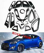 15pcs Abs Interior Accessories Whole Kit Cover Trim For Hyundai Veloster 2012-17