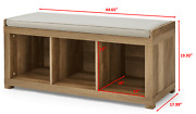 Better Homes And Gardens 3-cube Organizer Storage Bench Weathered