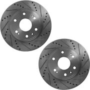 Disc Brake Rotor For 2010-2014 Ford F-150 Front Cross-drilled Slotted Set Of 2
