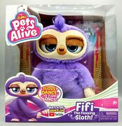 Pets Alive Fifi The Flossing Sloth Battery-powered Robotic Toy New In Box