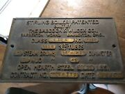 Antique 1936 Bronze Babcock And Wilcox Furnace Boiler Plate Plaque Sign