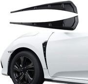 Car Fender Side Vents Abs Compatible Fender Stickers Decorative Air Flow Intake