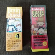 Brain Quest Question And Answer Games 2nd And 4th Grade Decks Ages 7-10 Used
