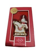 Lenox Rudolph Red Nosed Reindeer Ride Sleigh Ornament Open Box