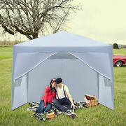 3 X 3m Two Doors And Two Windows Practical Waterproof Right-angle Folding White
