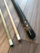 Billiards Cue Jerry Olivier Custam Cues With Spare Shaft Joint Cap G7231
