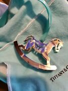Sterling Silver Christmas Ornament Rocking Horse Rare