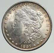 1897 P United States Of America Silver Morgan Old Us Dollar Coin Eagle I93298
