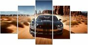 Ford Mustang Shelby Gt500 Car 5 Panel Canvas Print Poster Wall Art Home Decor
