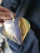 1986 Sterling Silver Christmas Ornament Heart Basket Extremely Rare