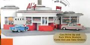 Mth Rare Al's Diner. / Operating Sounds, Skaters, Moving Cars New/box 8-pic.