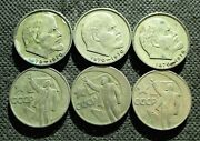 Lot Of Six Coins Of Soviet Union Russia Cccp Sickle And Hammer Lenin