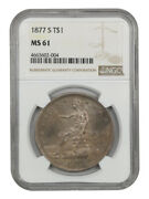 1877-s Trade Ngc Ms61 - Great Type Coin - Us Trade Dollar - Great Type Coin