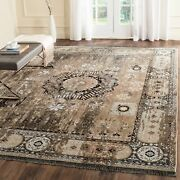 Safavieh Couture Hand-knotted Vineyard Vyarka Vintage Boho Graphite/charcoal 8and039