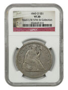 1860-o 1 Ngc Vf20 - Popular New Orleans Mint - Liberty Seated Dollar