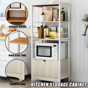 3 Tier Kitchen Bakers Rack Microwave Oven Stand Storage Cabinet Workstatio