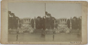 Italie Rome Mont Pincio Vintage Stereo Card Tirage Citrate 85x17 1