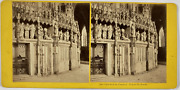 France Chartres Cathandeacutedrale Cloture Du Choeur Vintage Stereo Card Tirage