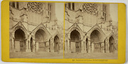 France Chartres Cathandeacutedrale Portail Septentrional Vintage Stereo Card Tir