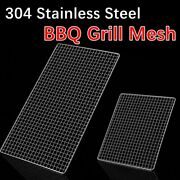 Square Barbecue Grill Net Mesh Bbq Mats Grilling Racks Meshes Stainless Steel