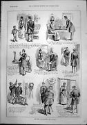 Antique Print On Being Photographed By Victim Look Best Lady Rejected 1892 19th