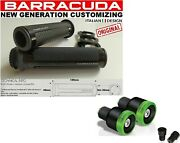 Knobs Race Black + Weights Green Blux + Mounts For Bars Yamaha