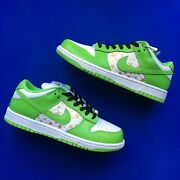 Nike Sb Dunk Low - Supreme Stars New Green Uk 5.5 / Us 6 ✅brand New And Quick 🚚