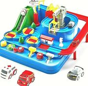 Educational Toy Vehicle Puzzle Car Track Playsets Kids Toys Toys Gifts 3years Up