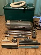 Electrolux Vintage Model Xxx Canister Vacuum Cleaner Original Tools And Storage