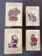 The International Santa Claus Collection Set Of Four Figurines Great