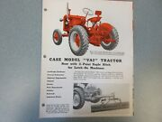 Case Vai Tractor W/ Eagle Hitch Brochure 4 Page