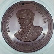 1880and039s Hard Rubber Union Coffee Co Andrew Jackson Portrait