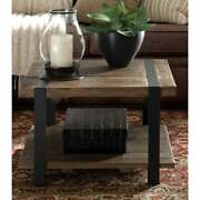 Carbon Loft Kenyon Reclaimed Wood Rustic Square Coffee Table Natural Farmhouse,