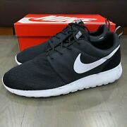 Nike Roshe Run One Black White Cool Grey Marble Pack 669985-200 Menand039s Size 11.5