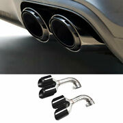 Black Steel Rear Tail Exhaust Pipe Muffler Tip Fit For Vw Touareg 2011-2018 2pcs