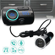 Car Usb Fast Charger Aux Fm Transmitter Mp3 Player Bluetooth-compatible Qc 3.0