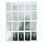 20 Leviton 1-gang Chrome-plated Toggle Switch Wall Plate Cover Switchplates 1901