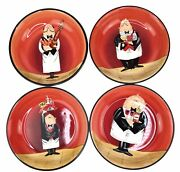 Certified International Dinner Is Served Tracy Flickinger Set Of Four 9andrdquo Bowls