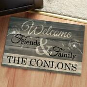 Personalized Welcome Friends And Family Front Door Mat New House Gift Home Decor